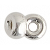 SS.925 Rondelle (Flat Round) Bead 4.2mm .048in/1.2mm Hole Approx 2.2gm